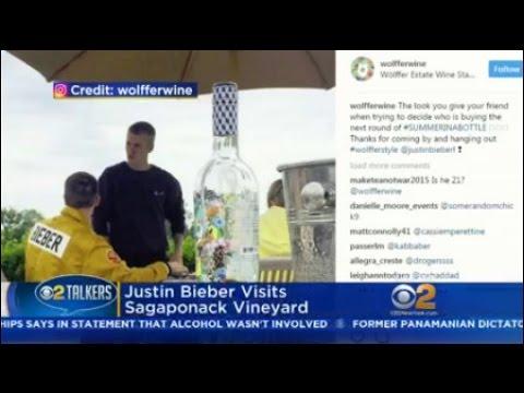 Justin Bieber Visits Sagaponack Vineyard