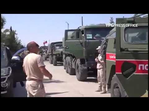 Russian observer forces arrive in Afrin to carry out monitoring and protection tasks next to the YPG