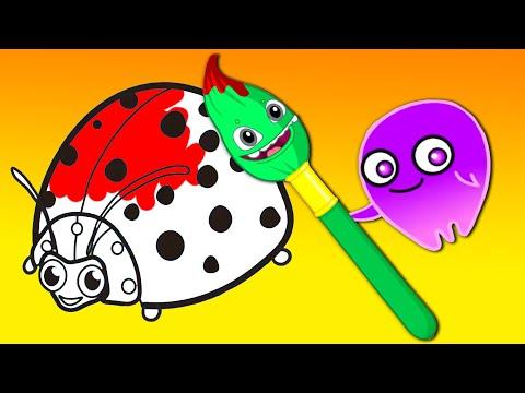 Apprenez les couleurs et les chiffres Groovy Le Martien dessins éducatifs pour enfants et comptine