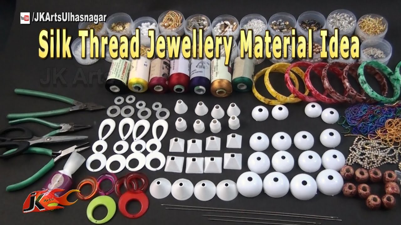 Silk Thread Jewelry Material and Tools Idea | JK Arts 974 - YouTube