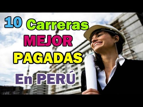 Top 10 Carreras UNIVERSITARIAS Mejor PAGADAS En Perú | Dato Curioso