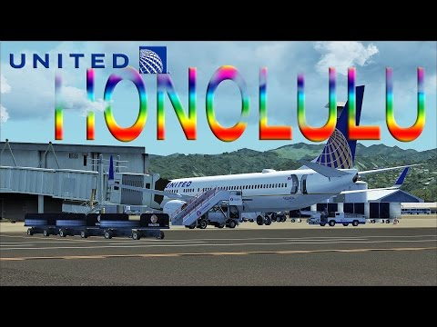 FSX [HD] - United Airlines | Boeing 737-900 | Honolulu Approach
