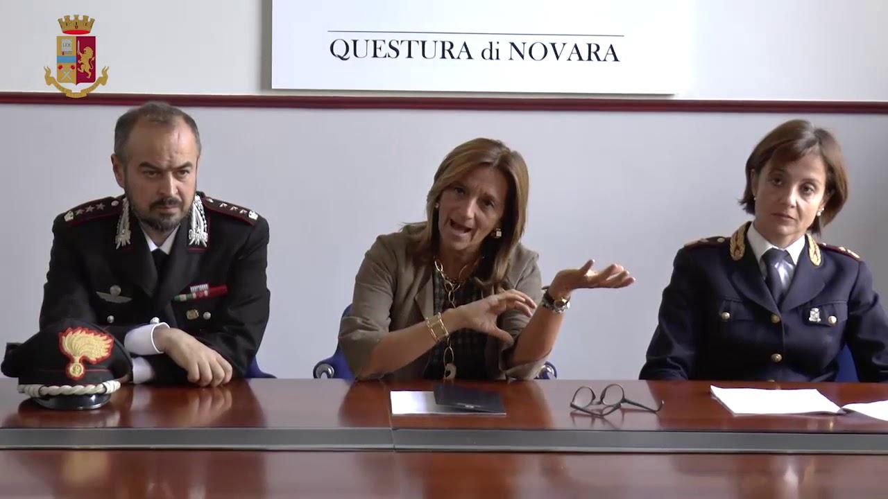 Questura di Novara, conferenza stampa per l'arresto dell'uomo armato di coltello