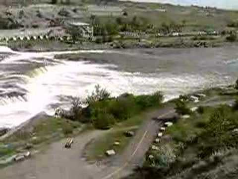 Great Falls of the Mighty Missouri River in Great Falls, MT