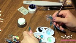 """Дизайн ногтей """"Жидкие камни"""", """"Литье"""", """"Раскатка гелем"""""""
