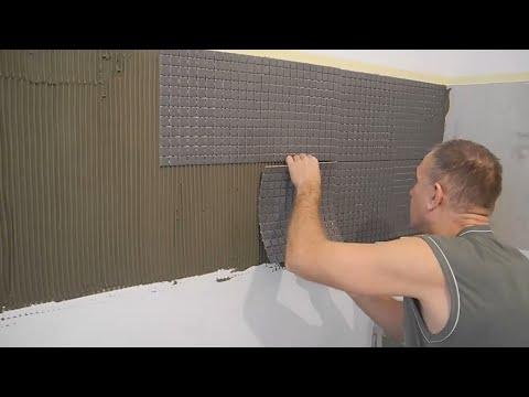 Плитка мозаика для кухни на фартук как уложить видео