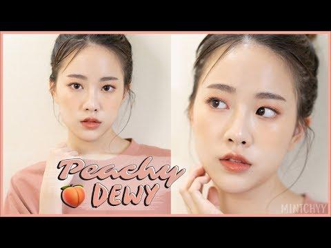 mintchyy | แต่งหน้าผิวฉ่ำๆโทนสีพีช ? ( Peachy Dewy Makeup ) thumbnail