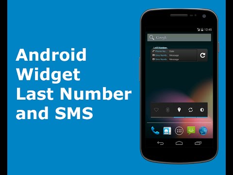 Android Widget Last Number and SMS