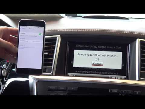 How to Pair an iPhone to a Mercedes Benz via Bluetooth