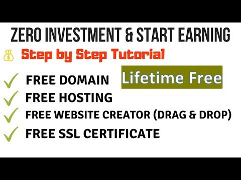 Lifetime Free Domain + Free Hosting + Free Website Creator   Create Blog Without Technical Skills  