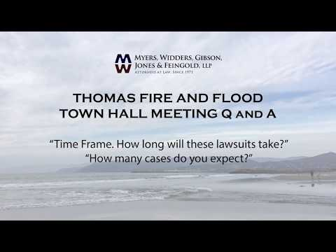 Thomas Fire - How long will the lawsuit against Edison take?