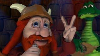 Derf el Vikingo, Ay (subtítulos) ganadora del premio 3D de dibujos animados