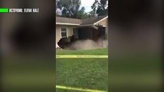 Жительница Флориды сняла на видео, как её дом проваливается под землю