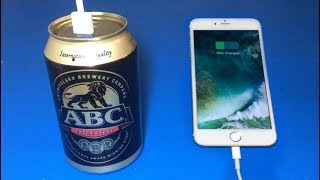 How to make power bank using  ABC beer can