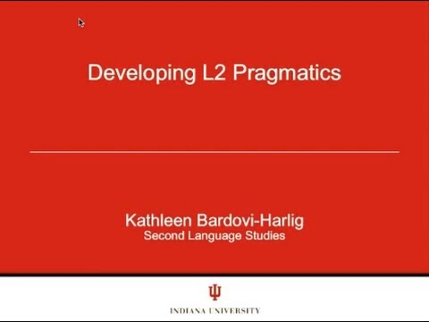 """Developing L2 Pragmatics,"" by Kathleen Bardovi-Harlig"
