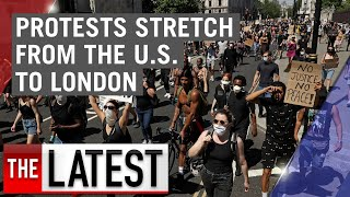 George Floyd protests: Demonstrations go global now stretching from the US to the UK | 7NEWS