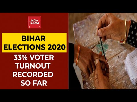 Bihar Elections 2020: 33 Per Cent Voter Turnout Recorded So Far In First Phase | India Today