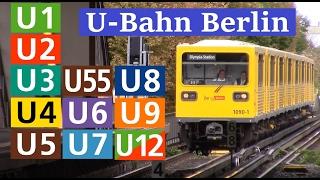 U-Bahn Berlin - alle Linien + U55 und U12