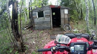 ATV Trail Riding - Bridges, Beavers & Cabin Leavers - Part 2 (Honda-Foreman-Rancher-Rollei)