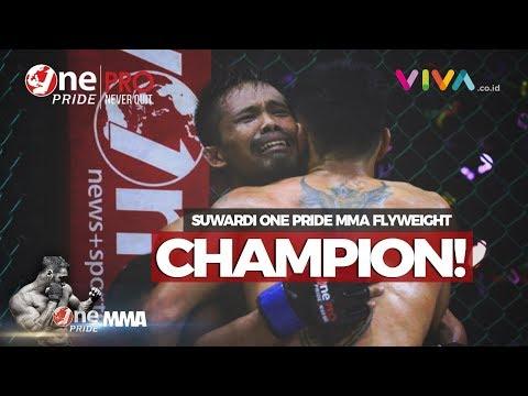 One Pride MMA#19: Suwardi Rebut Sabuk Juara Rudi Agustian!