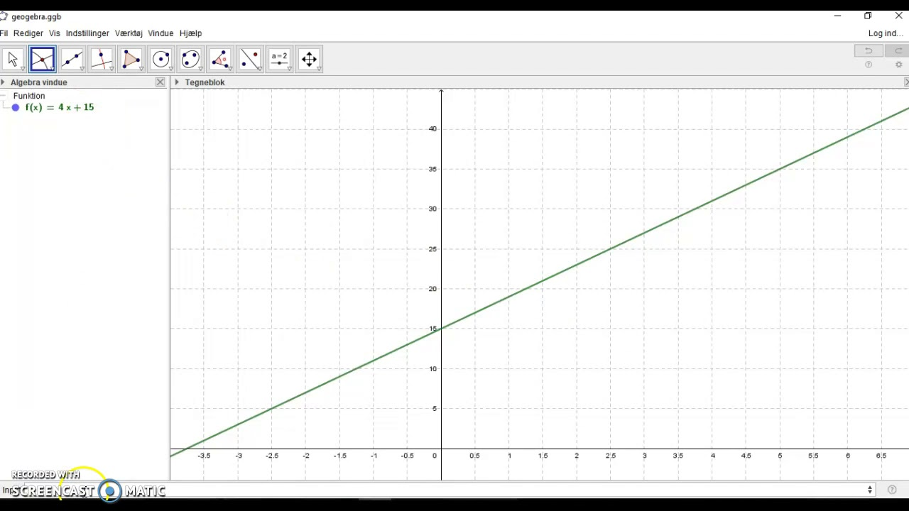 WordMat: Skæring mellem grafer