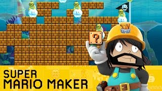 Super Mario Maker - Making My First Level!