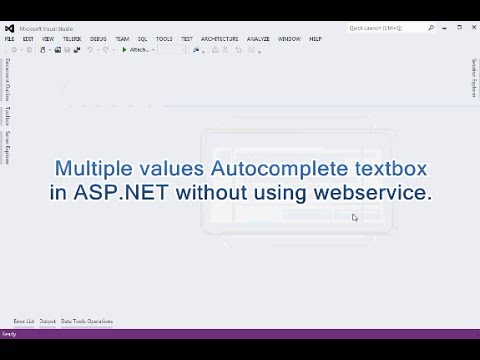 Multi Values Autocomplete(Jquery) textbox in ASP.NET WITHOUT using Webservice.