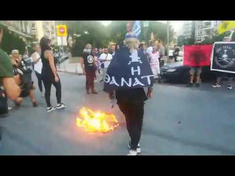 THESSTODAY.GR - Θεσσαλονίκη: Μέλη του Ιερού Λόχου έκαψαν τουρκική ...