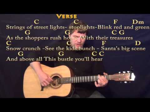 Silver Bells - Fingerstyle Guitar Cover Lesson in C with Chords/Lyrics
