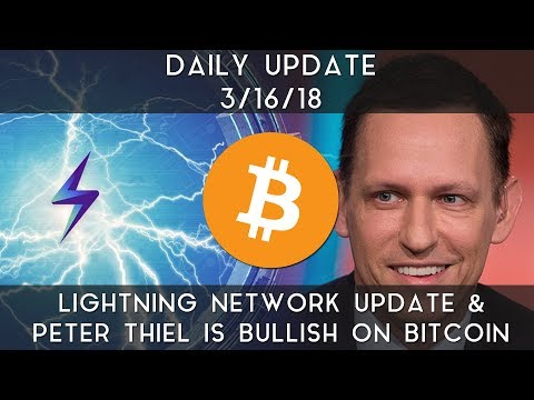 Daily Update (3/16/2018) | Lightning Network update & Peter Thiel is bullish on Bitcoin