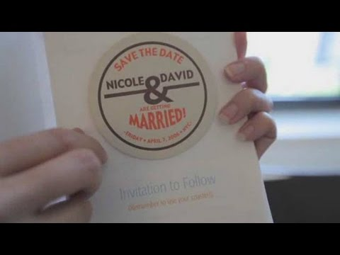 How to Make a Save-the-Date Card Wedding Invites - YouTube