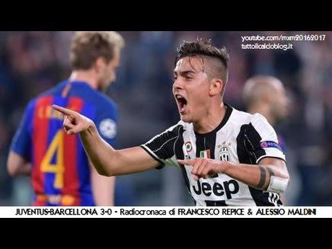 JUVENTUS-BARCELLONA 3-0 - Radiocronaca di Francesco Repice & Alessio Maldini (11/4/2017) Rai Radio 1