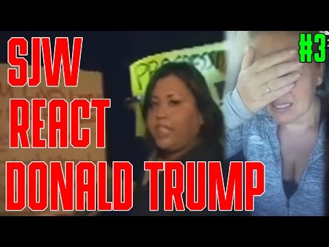 SJW React To Donald Trump Wins Compilation #3