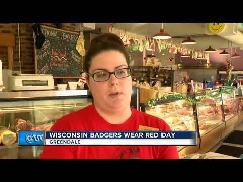 Badgers fans wear red to support team