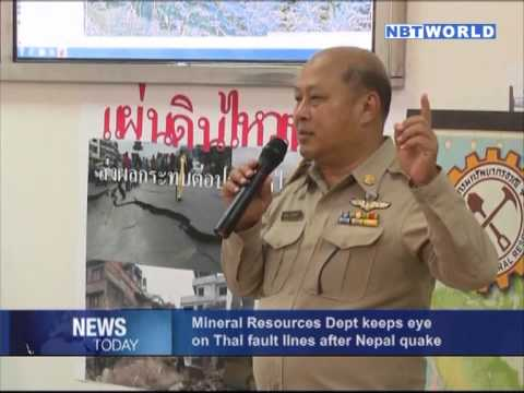 Mineral Resources Dept keeps eye on Thai fault lines after Nepal quake