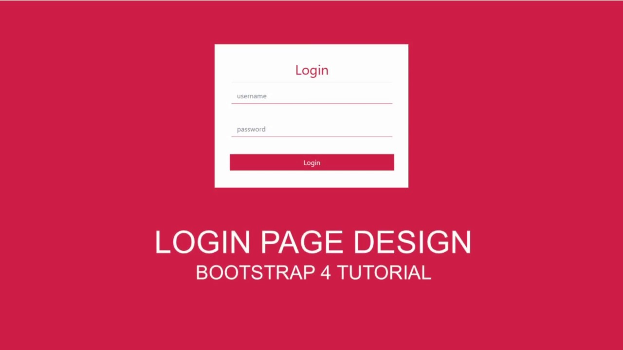 login page design simple bootstrap template youtube. Black Bedroom Furniture Sets. Home Design Ideas