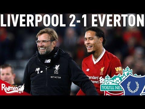 Van Dijk Winner Sends The Kop Wild! | Liverpool v Everton 2-1 | Kop Cam