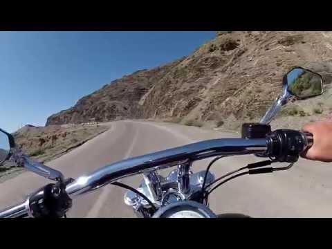 Harley fat bob  riding morocco rif mountains