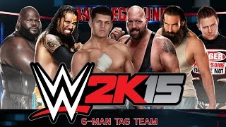 WWE 2K15: That's a Disqualification?  [6-Man Tag Team Match] - Xbox One Gameplay, Commentary