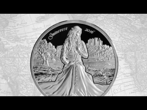 Choice Mint Guinevere – Camelot Series – 2oz Silver Coin $10 Cook Islands 2016
