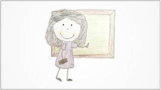 How to draw Community Helpers - Teacher for kids
