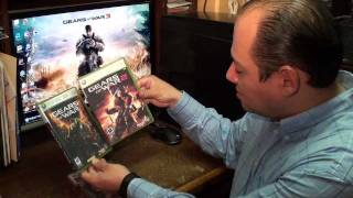 GEARS OF WAR 3 GAME UNBOXING