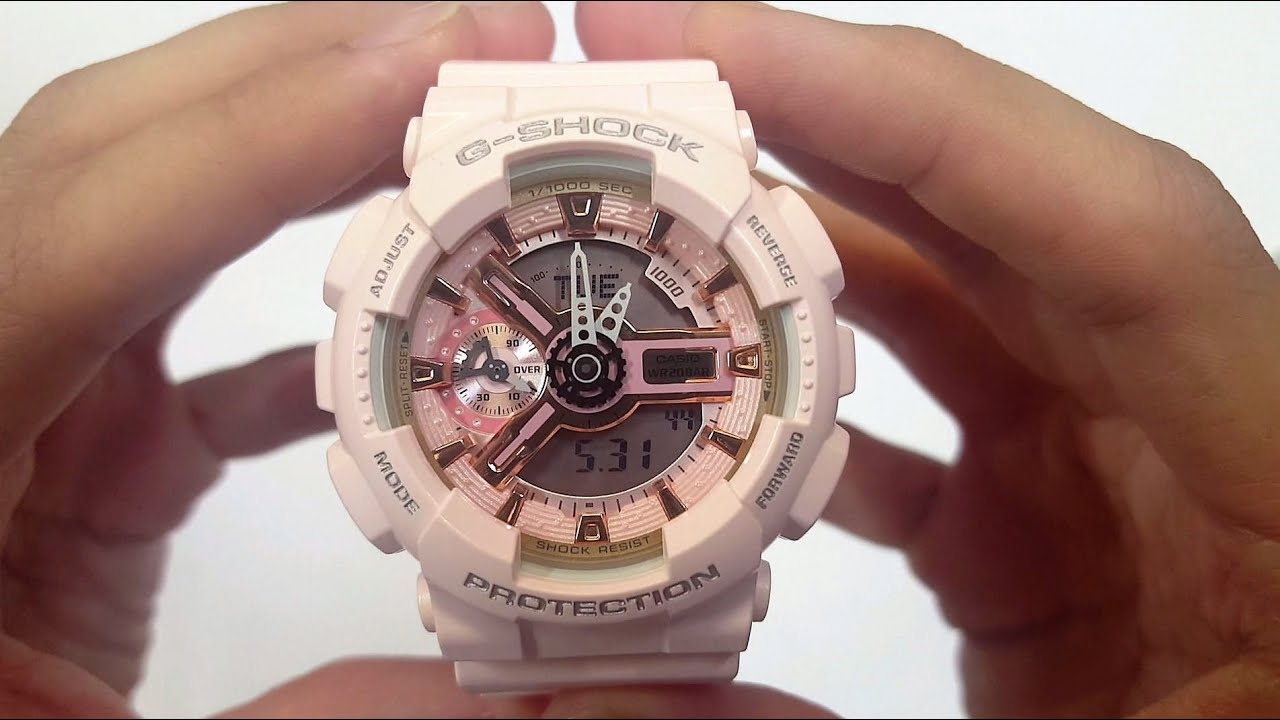 ad3570d61965 CASIO G-SHOCK WATCH GMA-S110PM-4A1 UNBOXING - YouTube