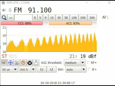 FMDX tropo - BBC Radio 3 retune message for new BBC Radio Wales frequency  - 20th Oct 2018