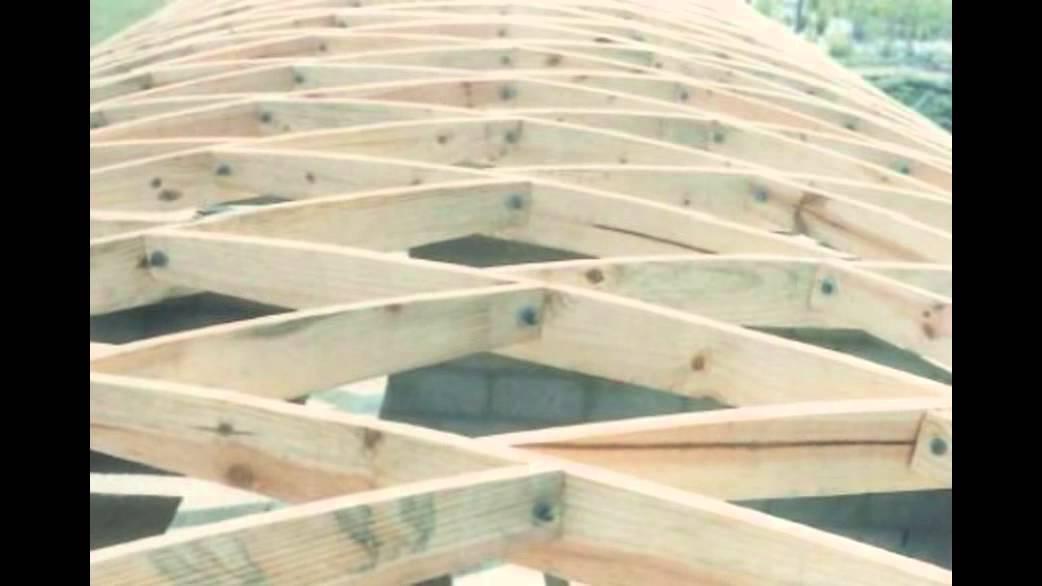 Lamella Roof En Madera De Pinus Jacarei S 227 O Paulo