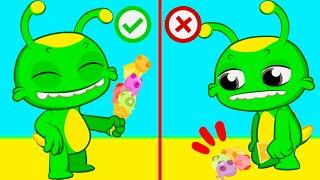 Новый образовательный эпизод! Groovy the Martian | Фиби делится своим фруктовым мороженым с Groovy