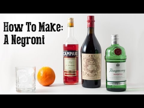 How to Make a Negroni with Carpano Antica Vermouth and Campari