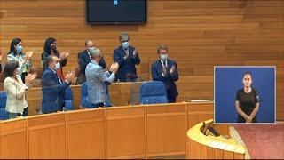 """Feijóo, elegido presidente de la Xunta por cuarta vez con el """"sí"""" de los 42 diputados del PPdeG"""