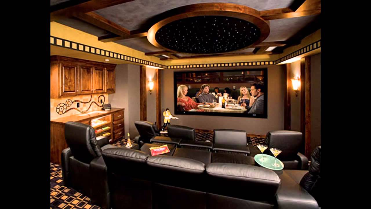 Modern home theater interior design youtube - Interior design for home theatre ...