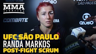 UFC Sao Paulo: Randa Markos Believes She 'Exposed' Marina Rodriguez On The Ground - MMA Fighting
